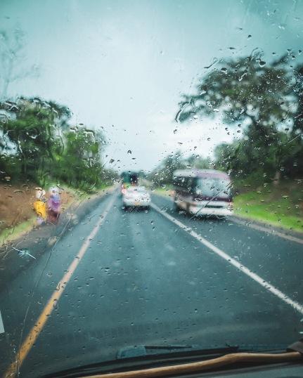 Kurz vor Moshi hat es sogar kurz geregnet!