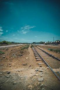 Stillgelegte Eisenbahn bei Moshi