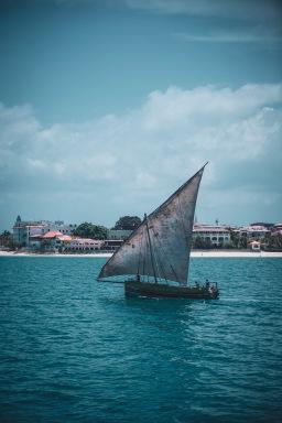 Fischerboot vor Stone Town