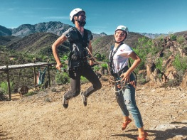 Ziplining bei den Cango Caves