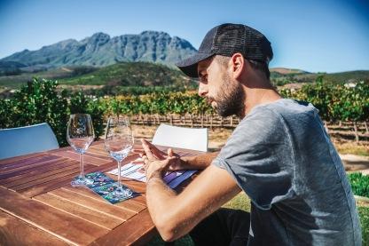 Weinverkostung im Neil Ellis Wine Estate, Stellenbosch