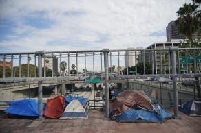Obdachtlosen in Zelten